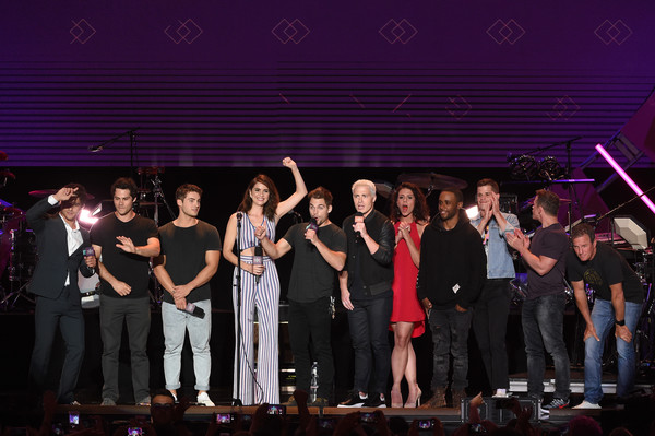 MTV Fandom Fest Performances [performance,entertainment,event,music,social group,backing vocalist,performing arts,musical ensemble,concert,stage,jeff davis,cody christian,tyler posey,dylan obrien,melissa ponzio,colton haynes,khylin rhambo,l-r,mtv,fandom fest performances]