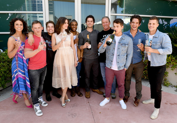 Comic-Con International 2017 - 'Teen Wolf' Backstage Photo Op [teen wolf,social group,event,youth,community,fun,leisure,team,tourism,jeff davis,melissa ponzio,actors,linden ashby,cody christian,dylan obrien,l-r,san diego convention center,comic-con international]
