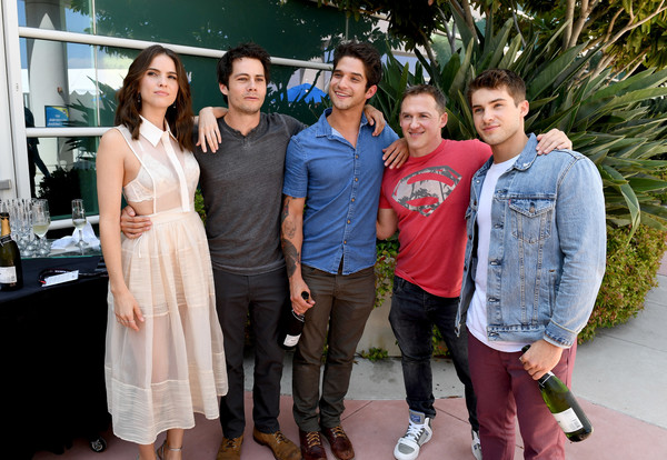 Comic-Con International 2017 - 'Teen Wolf' Backstage Photo Op [teen wolf,people,event,fashion,fashion design,leisure,party,ceremony,family,actors,jeff davis,cody christian,shelley hennig,tyler posey,l-r,san diego convention center,comic-con international,season]