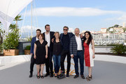 "(L-R from 2nd L) Producer Ewa Puszczynska, actor Tomasz Kot, actress Joanna Kulig, director Pawel Pawlikowski, actor Borys Szyc and producer Tanya Seghatchian attend the photocall for ""Grans"" during the 71st annual Cannes Film Festival at Palais des Festivals on May 11, 2018 in Cannes, France."
