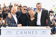 "(L-R) Actor Borys Szyc, director Pawel Pawlikowski, actress Joanna Kulig and actor Tomasz Kot attend the photocall for ""Cold War (Zimna Wojna)"" during the 71st annual Cannes Film Festival at Palais des Festivals on May 11, 2018 in Cannes, France."