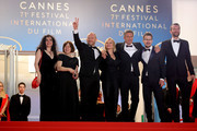 "Producers Tanya Seghatchian, Ewa Puszczynska, actors Borys Szyc, Joanna Kulig, director Pawel Pawlikowski, guest and actor Tomasz Kot attend the screening of ""Cold War (Zimna Wojna)"" during the 71st annual Cannes Film Festival at Palais des Festivals on May 10, 2018 in Cannes, France."