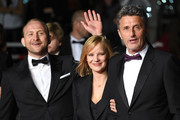 """Actor Borys Szyc, actress Joanna Kulig and director Pawel Pawlikowski attend the screening of """"Cold War (Zimna Wojna)"""" during the 71st annual Cannes Film Festival at Palais des Festivals on May 10, 2018 in Cannes, France."""