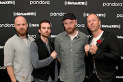 (L-R) Will Champion, Guy Berryman, Jonny Buckland and Chris Martin of Coldplay perform exclusive stripped-down set for SiriusXM and Pandora at SiriusXM Hollywood Studio on January 15, 2020 in Los Angeles, California.