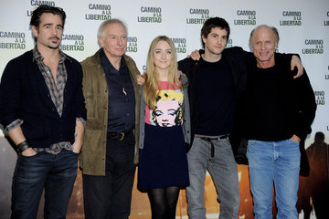 Ed Harris Jim Sturgess Colin Farrell Attends 'The Way Back' Photocall in Madrid
