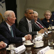Colin Powell Obama and Biden Meet With National Security Leaders at White House