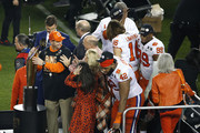 Head coach Dabo Swinney of the Clemson Tigers celebrates after defeating the against the Alabama Crimson Tide in the College Football Playoff National Championship at Levi's Stadium on January 07, 2019 in Santa Clara, California. The Clemson Tigers defeated the Alabama Crimson Tide with a score of 44 to 16..
