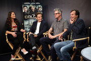 """(L-R) TV Personality Camille Ford, actor Kevin Zegers, director Jeff Renfroe, and actor Bill Paxton attend """"The Colony"""" at The Movies On Demand Lounge during Comic-Con International 2013 at Hard Rock Hotel San Diego on July 19, 2013 in San Diego, California."""