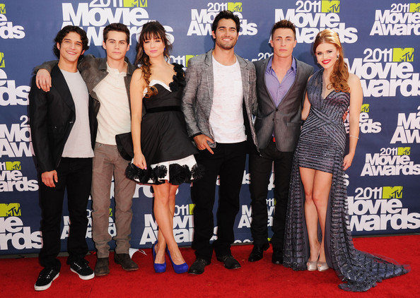 Holland Roden and Colton Haynes - 2011 MTV Movie Awards - Arrivals