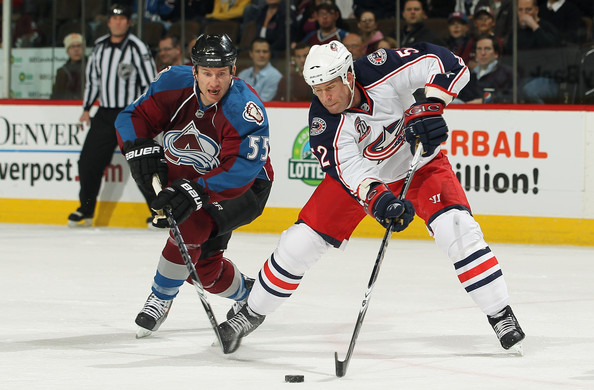 Craig Rivet Pictures Columbus Blue Jackets v Colorado Avalanche -