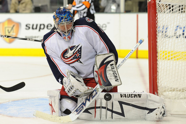 Steve Mason in Columbus Blue Jackets v Dallas Stars - Zimbio
