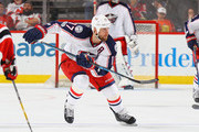 Brandon Dubinsky #17 of the Columbus Blue Jackets skates against the New Jersey Devils at the Prudential Center on March 5, 2017 in Newark, New Jersey. The Blue Jackets shutout the Devils 3-0.