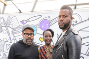 Jordan Peele, Lupita Nyong'o and Winston Duke attend the Comcast NBCUniversal House at SXSW on March 9, 2019 in Austin, Texas.