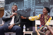 Lupita Nyong'o and Winston Duke attend Buzzfeed Conversation with Jordan Peele, Lupita Nyong?o and Winston Duke on the upcoming Universal Pictures film 'US' at Comcast NBCUniversal House at SXSW on March 9, 2019 in Austin, Texas.