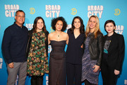 (L-R) Kent Alterman, Sarah Babineau, Ilana Glazer, Abbi Jacobson, Tanya Giles, and Samantha Schles attend Comedy Central's 'Broad City' season five premiere party at Stage 48 on January 22, 2019 in New York City.