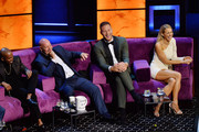 (L-R) Chris Redd, Jeff Ross, Blake Griffin and Nikki Glaser are seen onstage during the Comedy Central Roast of Alec Baldwin at Saban Theatre on September 07, 2019 in Beverly Hills, California.