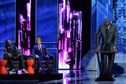 (L-R) Rapper Snoop Dogg, honoree Justin Bieber and former NBA player Shaquille O'Neal onstage at The Comedy Central Roast of Justin Bieber at Sony Pictures Studios on March 14, 2015 in Los Angeles, California. The Comedy Central Roast of Justin Bieber will air on March 30, 2015 at 10:00 p.m. ET/PT.