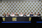 Actors Wendy Schaal, Scott Grimes, producer/writer Brian Boyle, writer Matt Weitzman, actor Mike Henry, writer Rich Appel, actor Seth Green, writer/producer Steve Callaghan, actress Alex Borstein and filmmaker Seth MacFarlane speak onstage at the Seth MacFarlane Animation Block during Comic-Con International 2015 at the San Diego Convention Center on July 11, 2015 in San Diego, California.