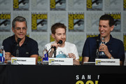 (L-R) Writer Rich Appel, actor Seth Green and writer Steve Callaghan speak onstage at the Seth MacFarlane Animation Block during Comic-Con International 2015 at the San Diego Convention Center on July 11, 2015 in San Diego, California.