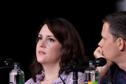 """Melanie Lynskey and Bill Skarsgard speak onstage at Hulu's World Premiere Screening of """"Castle Rock"""" during Comic-Con International 2018 at San Diego Convention Center on July 20, 2018 in San Diego, California."""