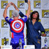 Aisha Tyler John Barrowman Photos - John Barrowman and Aisha Tyler speak onstage at The Great Debate panel hosted by SYFY WIRE during Comic-Con International 2018 at San Diego Convention Center on July 19, 2018 in San Diego, California. - Comic-Con International 2018 - SYFY WIRE Hosts The Great Debate