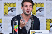 James Wolk speaks onstage at the Tell Me a Story panel during Comic-Con International 2018 at San Diego Convention Center on July 19, 2018 in San Diego, California.