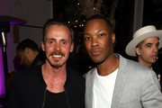 Jasper Pakkonen and Corey Hawkins attend Common's 5th Annual Toast to the Arts  at Ysabel on February 22, 2019 in West Hollywood, California.