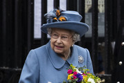 Queen Elizabeth II leaves after attending the Commonwealth Day Service 2020 on March 09, 2020 in London, England.