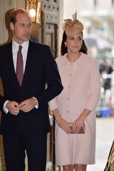 Catherine, Duchess of Cambridge and Prince William, Duke of Cambridge attend the Observance for Commonwealth Day Service At Westminster Abbey on March 9, 2015 in London, England.