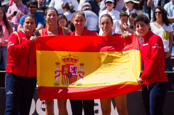 Spain v Italy: Fed Cup World Group Play-off Round - Day Two