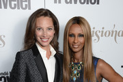 "Founder of Every Mother Counts, Christy Turlington Burns and model Iman pose with award attend the Conde Nast Traveler celebration of ""The Visionaries"" and 25 Years of Truth In Travel Awards Show on September 18, 2012 in New York City."