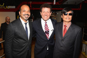 "(L-R) Actor Jeffrey Wright, New York Times columnist Nicholas D. Kristof and civil rights activist Chen Guang Cheng attend the Conde Nast Traveler Celebration of ""The Visionaries"" and 25 Years Of Truth In Travel Awards Show at Alice Tully Hall on September 18, 2012 in New York City."