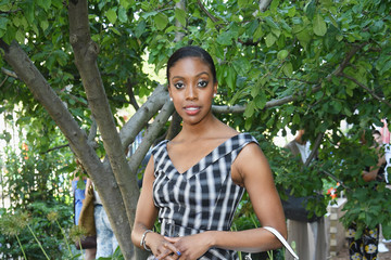 Condola Rashad Michael Kors And The New York Restoration Project Celebrate The Opening Of The Essex Street Community Garden