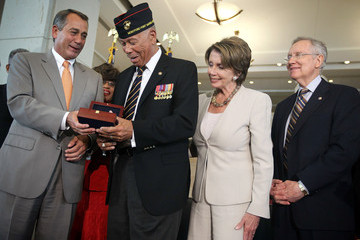Nancy Pelosi Harry Reed Congressional Gold Medal Award Ceremony Honors First African-American Marines