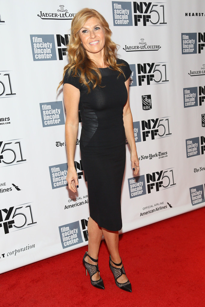 Found: Connie Britton's Leather-Paneled LBD