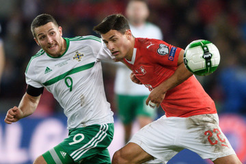 Conor Washington Switzerland v Northern Ireland - FIFA 2018 World Cup Qualifier Play-Off: Second Leg