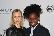 Actors Mickey Sumner (L) and Adepero Oduye attend Conrad Hotels & Resorts hosts the Tribeca Film Festival Awards Ceremony at Conrad New York on April 24, 2014 in New York City.