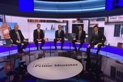 In this handout photo provided by the BBC, (L-R) MP Boris Johnson, Secretary of State for Foreign Affairs Jeremy Hunt, Secretary of State for Environment, Food and Rural Affairs of the UK Michael Gove, Home Secretary of the UK, Sajid Javid, and Secretary of State for International Development of the UK, Rory Stewart participate in a Conservative Leadership televised debate on June 18, 2019 in London, England. Emily Maitlis hosts the second of the televised Conservative Leadership debates for the BBC. Boris Johnson, Michael Gove, Jeremy Hunt, Rory Stewart and Sajid Javid made it through the second ballot while Dominic Raab did not. The third ballot will be held tomorrow, (Wednesday).