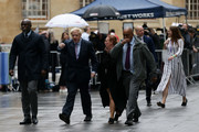 Boris Johnson MP (2nd L) arrives for the Conservative Leadership televised debate on June 18, 2019 in London, England. Emily Maitlis hosts the second of the televised Conservative Leadership debates for the BBC. Boris Johnson, Michael Gove, Jeremy Hunt, Rory Stewart and Sajid Javid made it through the second ballot while Dominic Raab did not. The third ballot will be held tomorrow, (Wednesday).