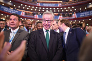 """Secretary of State for Environment, Food and Rural Affairs Michael Gove attends British Prime Minister Theresa May's speech on the final day of the Conservative Party Conference at The International Convention Centre on October 3, 2018 in Birmingham, England. British Prime Minister Theresa May will deliver her leader's speech to the 2018 Conservative Party Conference today. Appealing to the """"decent, moderate and patriotic"""", she will state that the Conservative Party is for everyone who is willing to """"work hard and do their best"""". This year's conference took place six months before the UK is due to leave the European Union, with divisions on how Brexit should be implemented apparent throughout."""