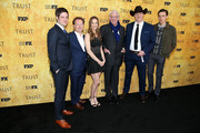 "(L-R) Michael Esper, Simon Beaufoy, Hilary Swank, Donald Sutherland, Brendan Fraser, and Harris Dickinson attend the For Your Consideration Event for FX's ""Trust"" at Saban Media Center on May 11, 2018 in North Hollywood, California."