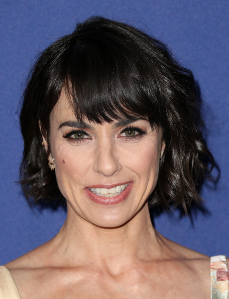 18th Costume Designers Guild Awards - Arrivals And Red Carpet [hair,face,chin,eyebrow,hairstyle,human hair color,head,layered hair,forehead,bangs,constance zimmer,costume designers guild awards,red carpet,beverly hills,california,the beverly hilton hotel,lacoste]
