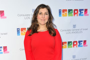 Actress Mayim Bialik attends a private celebration of The 70th Anniversary of Israel hosted by the Consul General of Israel, Los Angeles, Sam Grundwerg on June 10, 2018 in Los Angeles, California.