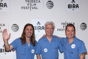 """Director Bill Ross, musician David Byrne, and Director Turner Ross attend the """"Contemporary Color"""" Premiere during the 2016 Tribeca Film Festival at BMCC John Zuccotti Theater on April 14, 2016 in New York City."""