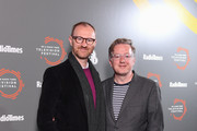 Mark Gatiss (L) and Matthew Sweet attend the 'In Conversation: Mark Gatiss on Ghost Stories' photocall during the BFI & Radio Times Television Festival 2019 at BFI Southbank on April 14, 2019 in London, England.