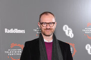 Mark Gatiss attends the 'In Conversation: Mark Gatiss on Ghost Stories' photocall during the BFI & Radio Times Television Festival 2019 at BFI Southbank on April 14, 2019 in London, England.