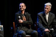 (L-R) Ringo Starr and David Lynch speak onstage during the In Conversation Panel for 'Another Day In The Life' with Ringo Starr, David Lynch and Henry Diltz at Saban Theatre on October 29, 2019 in Beverly Hills, California.