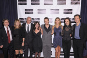 """(L-R) Innocence Project co-founder Barry Scheck, film subject Betty Anne Waters, producer Andy Karsch, screenwriter Pamela Gray, actors Sam Rockwell, Hilary Swank and Juliette Lewis and director Tony Goldwyn attend the screening of """"Conviction"""" hosted by the Innocence Project at The French Institute on October 13, 2010 in New York City."""
