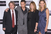 """(L-R) Innocence Project co-founder Barry Scheck, actor Sam Rockwell, film subject Betty Anne Waters and actress Hilary Swank attend the screening of """"Conviction"""" hosted by the Innocence Project at The French Institute on October 13, 2010 in New York City."""