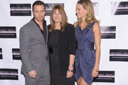 """(L-R) Actor Sam Rockwell, film subject Betty Anne Waters and actress Hilary Swank attend the screening of """"Conviction"""" hosted by the Innocence Project at The French Institute on October 13, 2010 in New York City."""